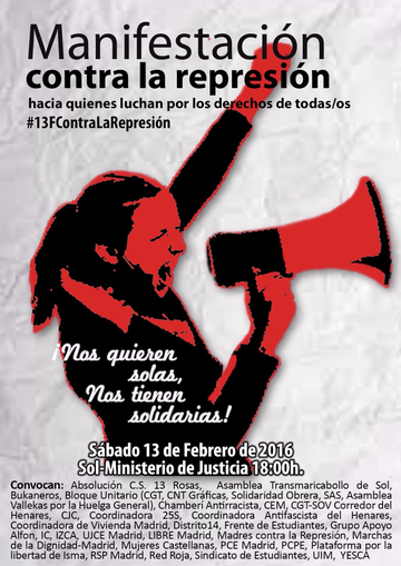 [Madrid] Manifestación: #13fcontralarepresion